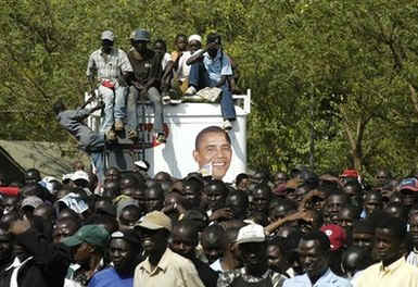 The Kenyan village of Kisumu, where Obama has relatives, celebrate the historic inauguration of an African-American.