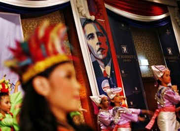 The Jakarta school that Barack Obama attended celebrates his inauguration on January 20, 2009. Barrack, known as Barry in school, attended the Indonesian school in the late 1960s after his stepfather returned to Jakarta.