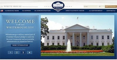 On January 20/09 at 12 PM (EST) the White House web site was changed to President Barack Obama.