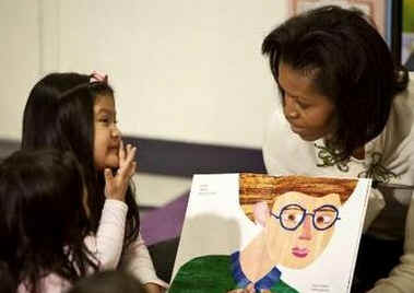 First Lady Michelle Obama visited Mary's Center and the Community Health Center in Washington where the First Lady spoke with high school students and read to elementary children.