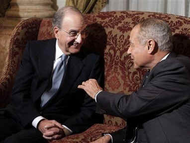 Middle East envoy George Mitchell begins his Mid-East tour in Egypt meeting with Egyptian Foreign Minister in Cairo.