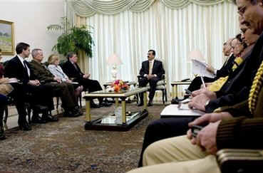 On February 12, 2009 Richard Holbrooke meets with Pakistan's Prime Minister Yousaf Raza Gilani in Islamabad.