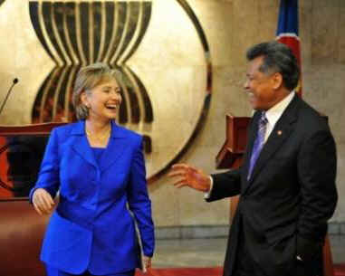Secretary Clinton meets with the Secretary General of the Association of South East Asian Nations (ASEAN).