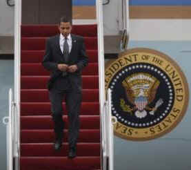 President Obama returns from Arizona on Air Force One (photo) and Marine One. President Obama departs for Canada the next day.