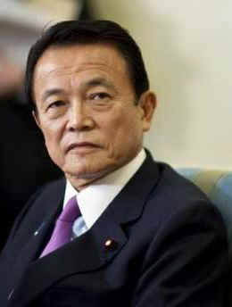 Japanese Prime Minister Taro Aso (photo) is the first foreign leader to visit President Obama at the White House. Obama and Aso met in the Oval Office.