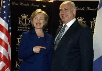 Secretary of State Hillary Clinton meets with Israeli PM designate Benjamin Netanyahu in Jerusalem on March 3, 2009.