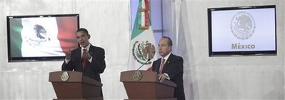 President Obama and President Calderon hold a joint press conference.