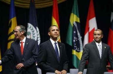 President Barack Obama and over 30 other world leaders attend the official opening of the 5th Summit of the Americas.