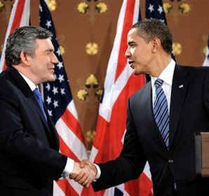 Watch the YouTube of the Joint Press Conference with PM Brown and President Obama on 4/1/09.