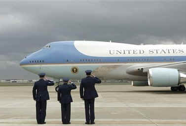 President Obama departs for Washington on Air Force One.
