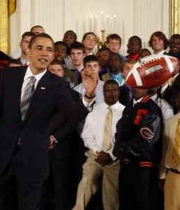 Watch the White House YouTube of President Obama and the Florida Gators on April 24, 2009.