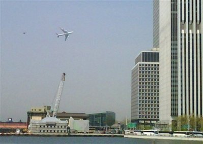 New Yorkers were alarmed to see the presidential plane (known as Air Force One when President Obama is aboard)  flying low over Manhattan followed by an F16 military jet. Apparently the Defense Department was on a photo shoot with Air Force One and the Mayor of New York and New Yorkers were not notified. Mayor Bloomberg said the low flight over New York was insensitive.