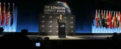 President Barack Obama speaks at a press conference after G20 Summit meetings in London, UK on April 2, 2009.