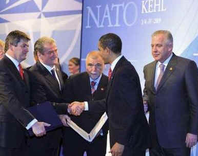 President Obama welcomed Albania to the NATO family of countrie