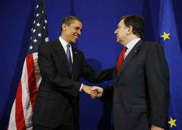 President Obama met with Jose Manuel Barroso the President of the European Union.