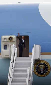 President Barack Obama leaves Prague on Air Force One for Ankara, Turkey the next city on Obama's European tour.
