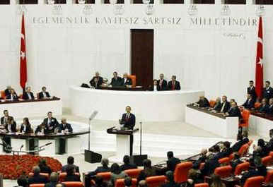 President Barack Obama delivers an Address to the General Assembly of the Turkish Parliament in Ankara, Turkey.