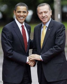 President Barack Obama Obama meets with Turkish Prime Minister Erdogan at the Prime Minister's residence in Ankara, Turkey.