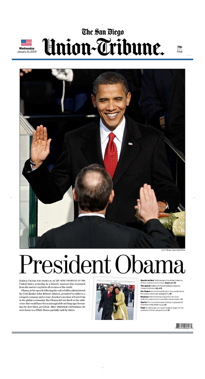 Obama Newspaper Front Page Headlines Of Barack Obama