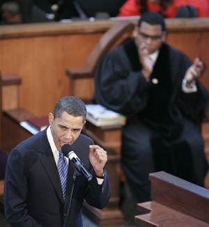 "Barack Obama delivers a speech called the ""Great Need of the Hour"" at Ebenezer Baptist Church. Martin Luther King's church, in Atlanta on January 20, 2008 Barack Obama - Important Speeches and Remarks. Ten significant Barack Obama speeches from October 2002 - November 2008"