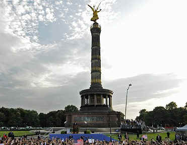 Watch the YouTube of Barack Obama's Speech at the Victory Column in Berlin on July 24, 2008.
