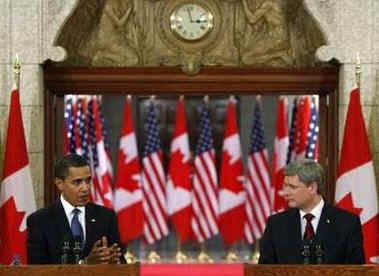 Watch the YouTube of the Press Conference of President Obama and PM Harper on February 19, 2009. President Barack Obama and Prime Minister Stephen Harper hold a news conference on Parliament Hill after private meetings.
