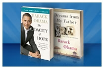 "Barack Obama has written several books which have gained in popularity since his election campaign and victory. Obama's early books shown are ""Dreams From My Father"" and ""The Audacity of Hope."""