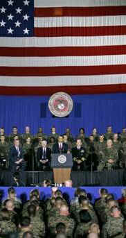 Obama announced that all US combat troops will be out of Iraq by August 2010, however 50,000 others will remain for transition.
