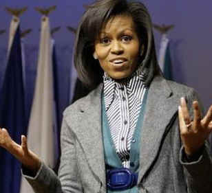 Watch the YouTube of First Lady Obama at the Arlington National Cemetery for Women on 3/3/09.