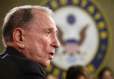 Pennsylvania Senator Arlen Specter surprises the Republican Part by announcing he is switching to the Democratic Party.