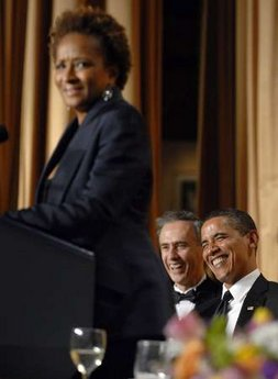 Comic actress Wanda Sykes delivered a comic monologue during the Washington event.