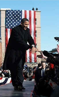 On February 10, 2007 Senator Barack Obama announces his Presidency in the 'Land of Lincoln'.